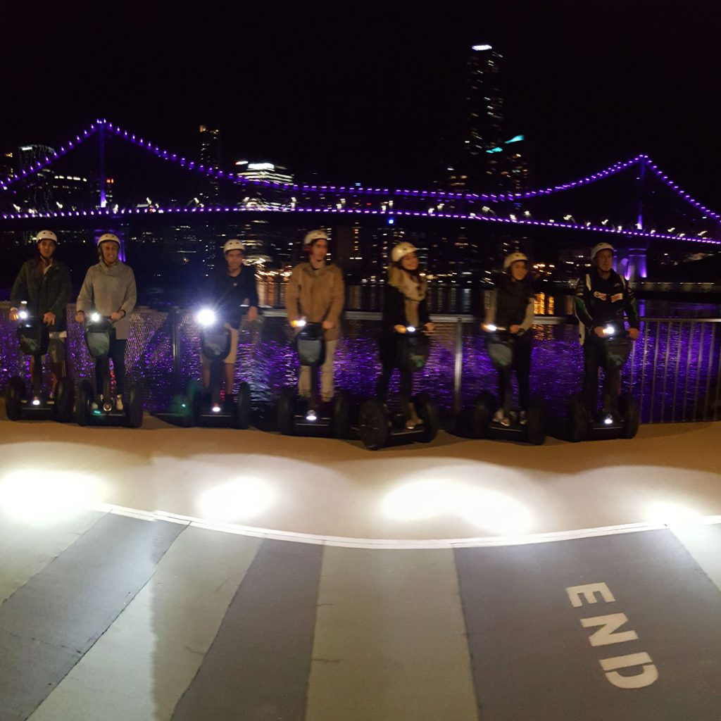 Fun night Segway tours of Brisbane City, breathtaking the whole ride.